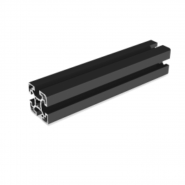 Black aluminium profile 40x40 mm