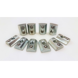 Pack 10 post-mounting nuts diameter 6