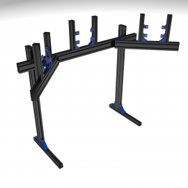 Colored Support triple screens on legs 40 to 42''