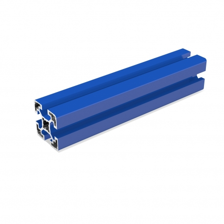 Blue aluminium Profile 40x40 mm