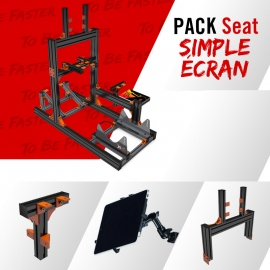 Pack Seat Noir Simple Ecran