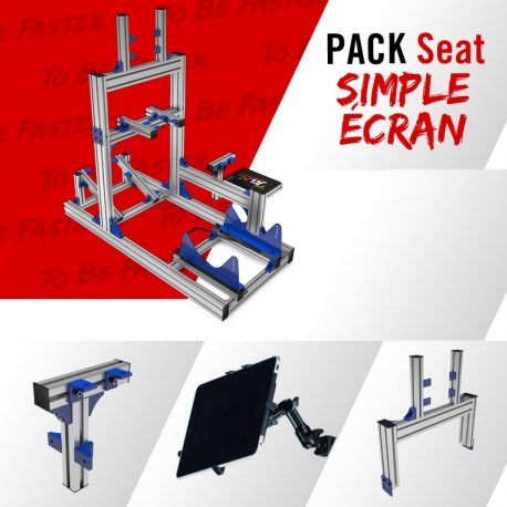 Pack Seat Gris Simple Ecran