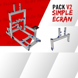 Pack new V2 simple écran en jonction 19 à 49""