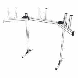 "Gray triple screen support on legs from 19 to 32"", angle plates adjustable from 20 to 60°."
