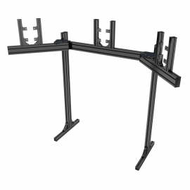 "Black triple screen support on legs from 19 to 32"", angle plates adjustable from 20 to 60°."