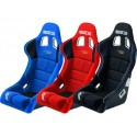 Seat, slides, fasteners and harnesses